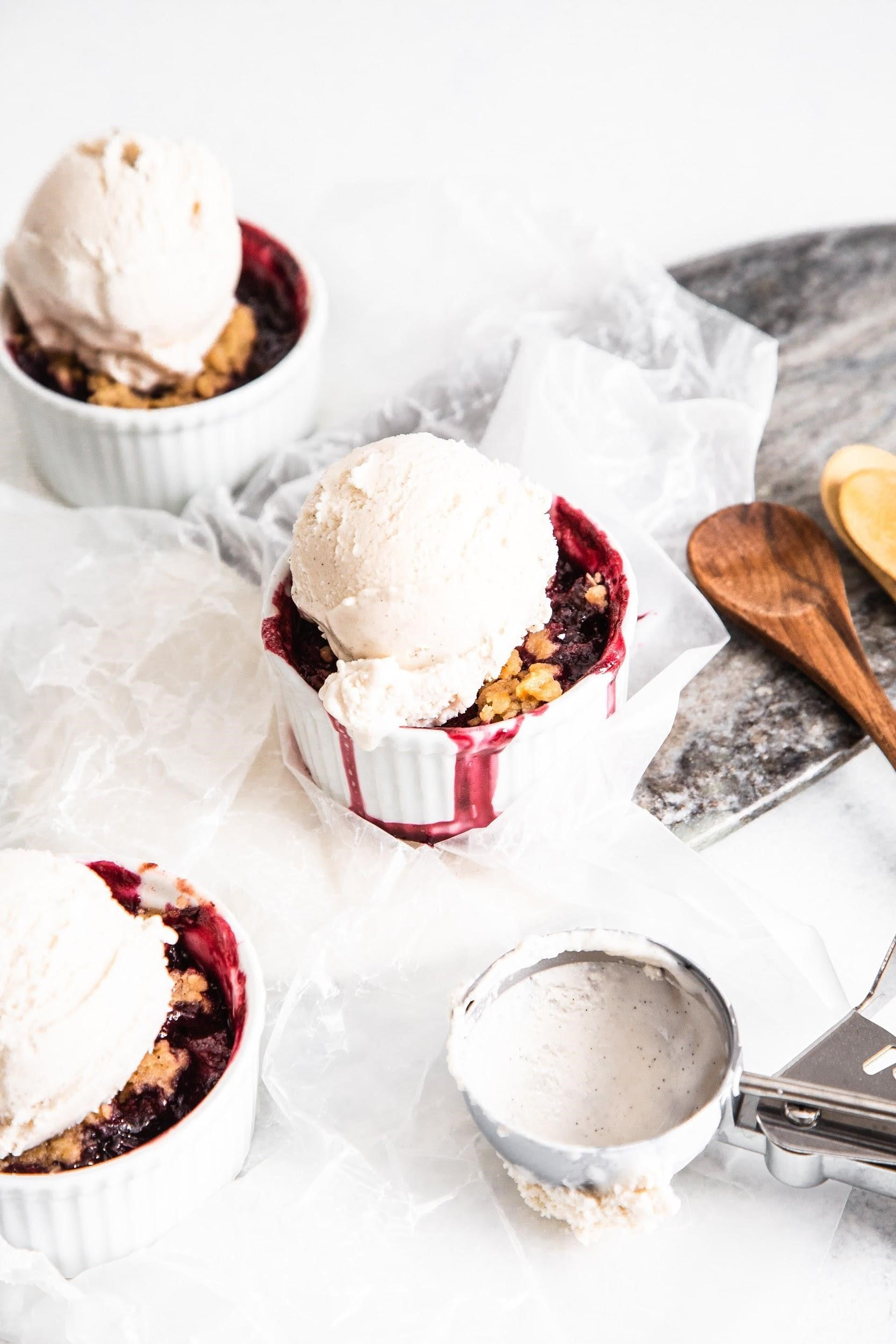Kombucha-Infused Cherry Berry Cobbler Recipe For Summer