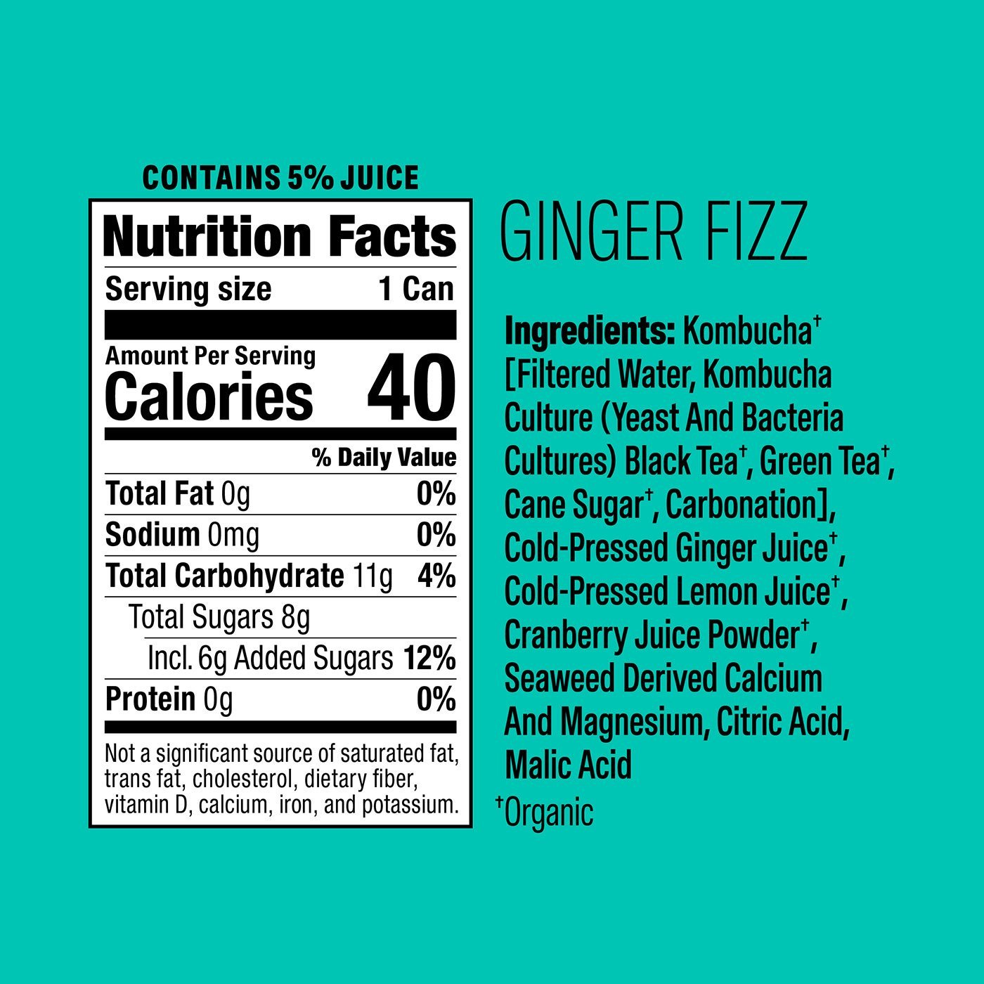 Ginger Fizz Nutritional Fact