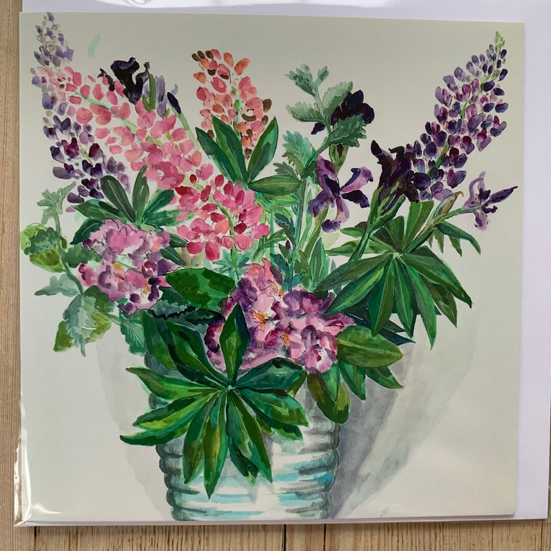 Lupin Bouquet Greeting Card