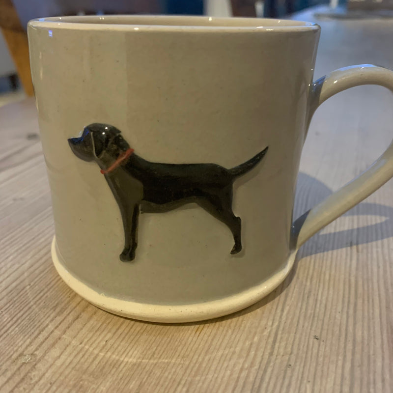 Black Labrador Hogben Pottery Coffee Mug