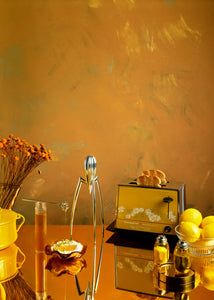 Mustard Haze Large Vinyl Photography Backdrop by Club Backdrops [90 x 120cm / ~3 x 4ft]