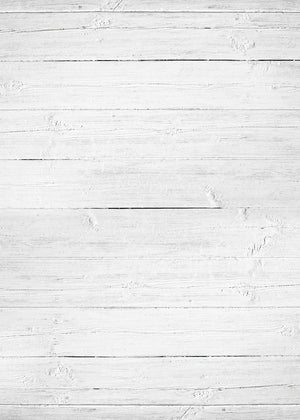Large White Wood Vinyl Backdrop by Photography Backdrop Club