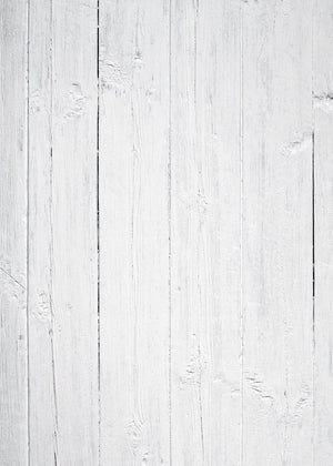 White Wood Vinyl Photography Backdrop by Club Backdrops
