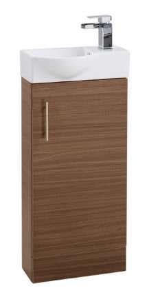 Walnut Single Door 400mm Basin and Unit