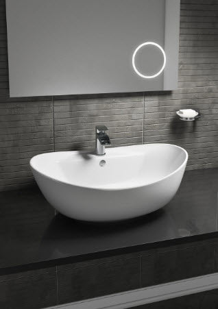 Oval Counter Top Basin 210mm Height