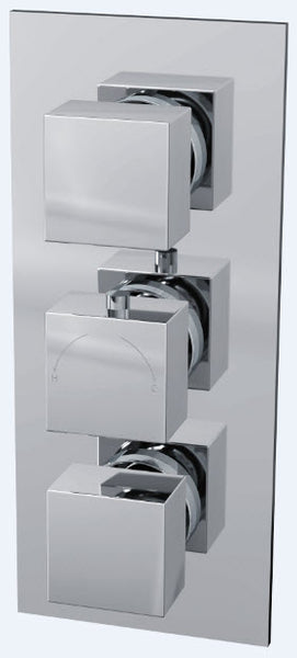 Istra Triple Square Concealed Shower Valve with Dual Function