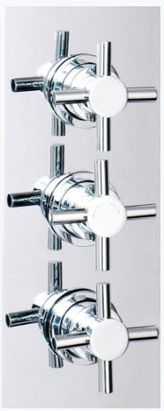 Reno Triple Crosshead Concealed Shower Valve with Dual Function