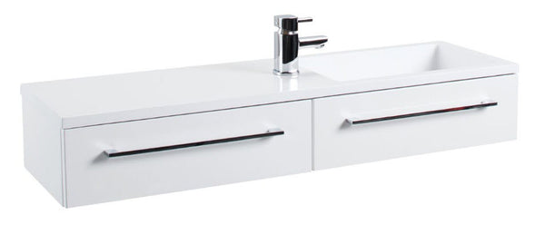 Gloss White Dias Wall Hung Basin Unit