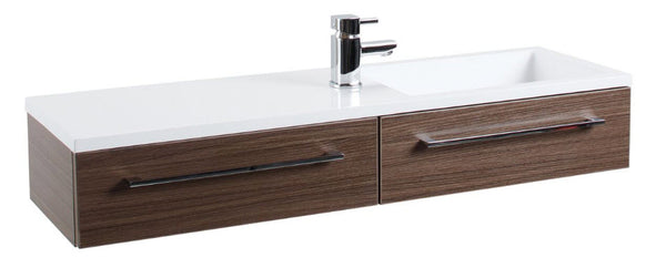 Walnut Dias Wall Hung Basin Unit