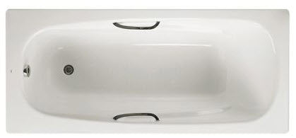 Steel 2 Tap Hole Bath with Twin Grips and Anti-Slip Finish 1700 x 700mm