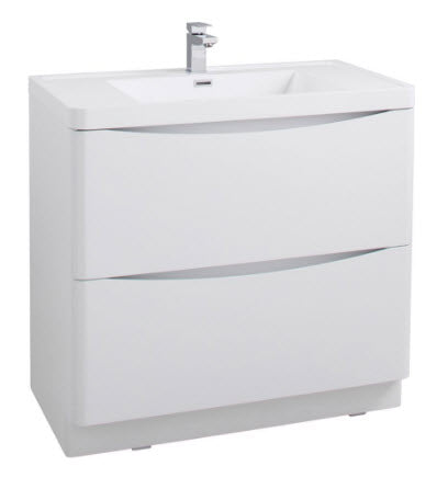 Bali White Ash 900 Free Standing Cabinet
