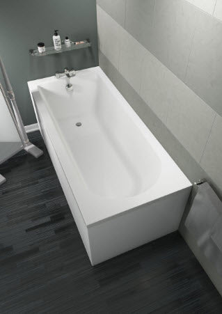 Grange Single End Straight Bath Round Style