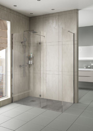 Marna 8mm Wet Room Glass Panels with Profile