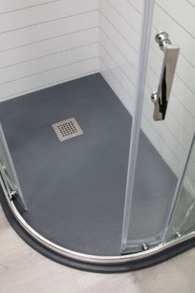 Slate Off Set Quadrant Shower Tray