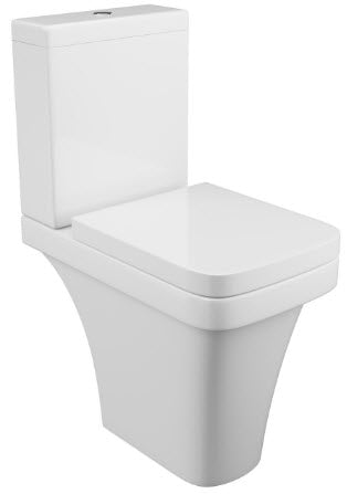 Rivelin Comfort Height Close Coupled Pan Cistern & Seat