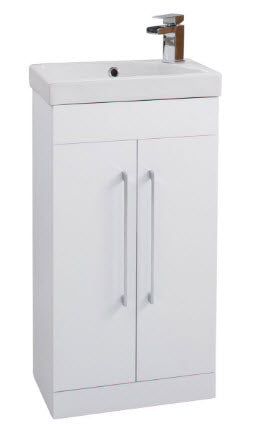 Sail Two Door Unit with Ceramic Basin & Chrome Handles