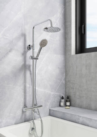 Santana Bath Filler Shower Kit