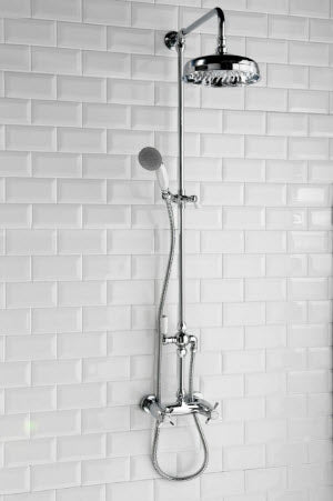 Damson Traditional Rigid Riser Kit with Shower Valve