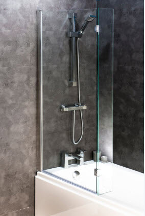 Square Bath Screen with Flipper Panel