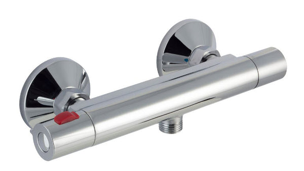 Cool Touch Minimalist Thermostatic Round Bar Valve