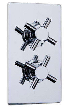 Reno Twin Crosshead Concealed Valve with Single Function