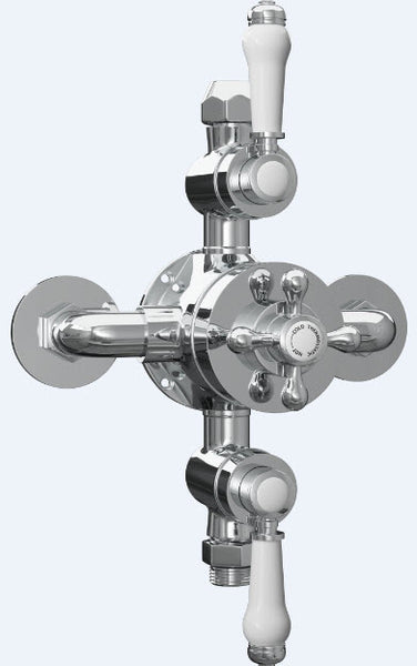 Traditional Exposed Thermostatic Valve with 2 Outlets