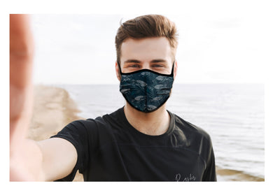 SEA TURTLES FACE MASK WITH FILTER  (Due to Cov-19 we can not accept returns)