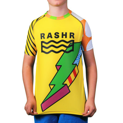 Bolt Boys Short Sleeve Rash Vest