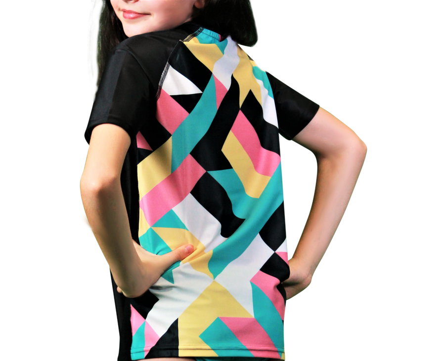 Ripple Girls Short Sleeve Rash Vests
