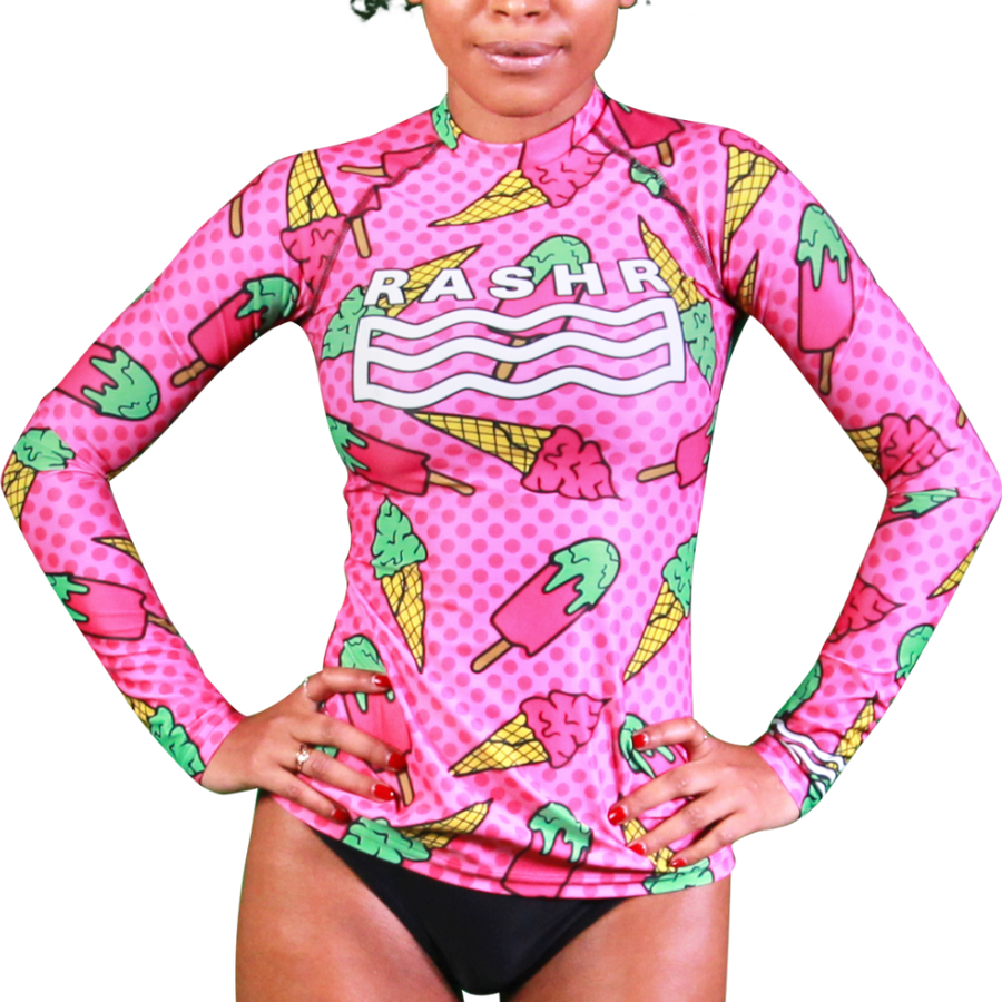 Popsicle Womens Long Sleeve Rash Vest