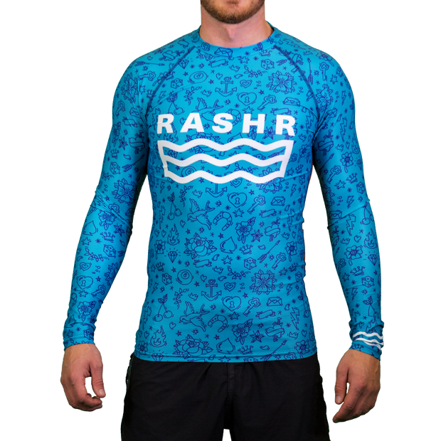 Sketch Tone Mens Long Sleeve Rash Vest