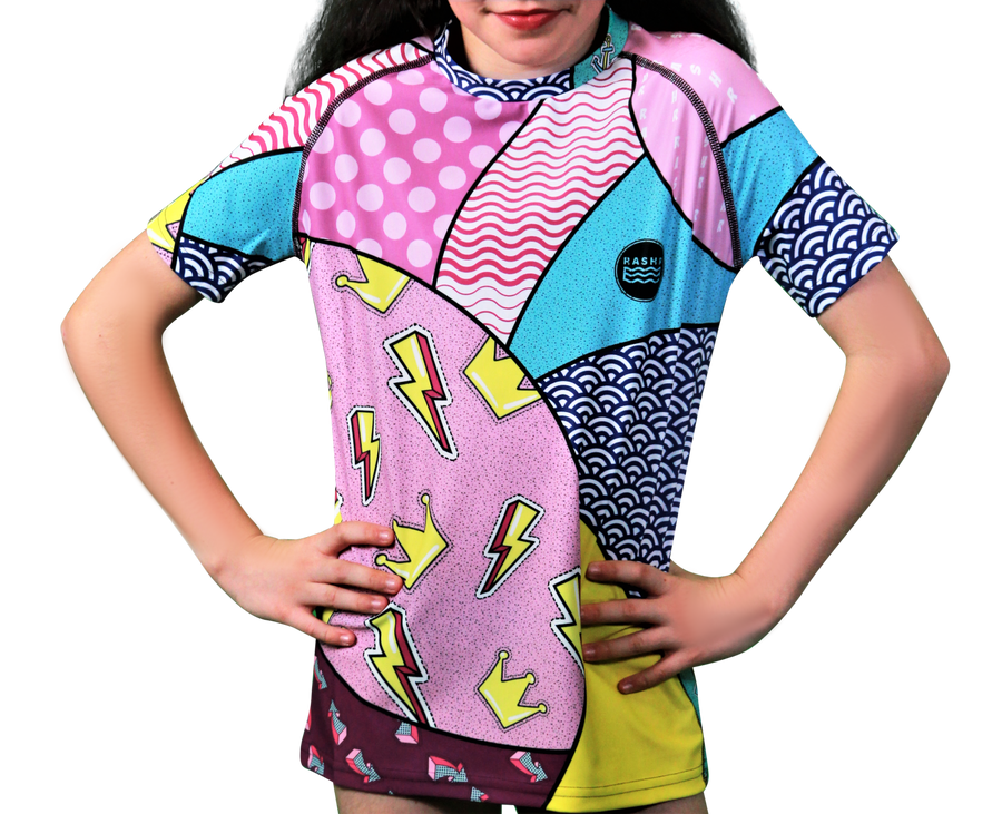 Hectic 2 Girls Short Sleeve Rash Vest