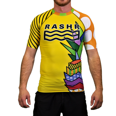 Tropical Floater Mens Short Sleeve Rash Vest