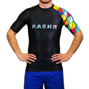 One Armed Bandit Mens Short Sleeve Rash Vest