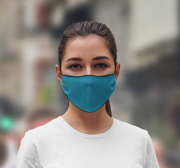 3 Layer Recycled Adjustable Blue Face Mask with Filter (Due to Cov-19 we can not accept any returns)