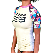 Poly Womens Short Sleeve Rash Vest
