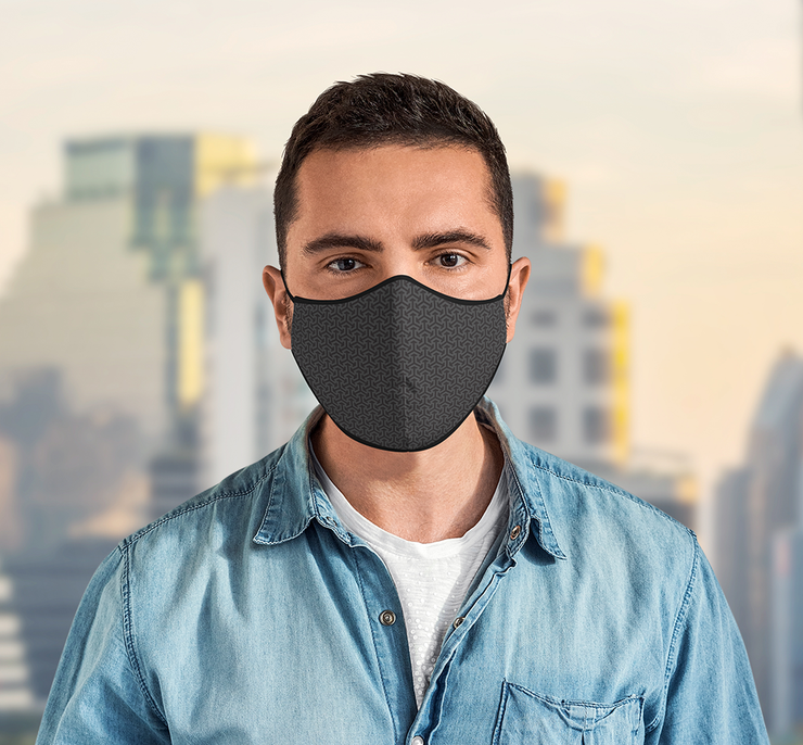 3 Layer Recycled Adjustable Black Face Mask with Filter (Due to Cov-19 we can not accept any returns)