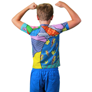 Hectic 2 Boys Short Sleeve Rash Vest
