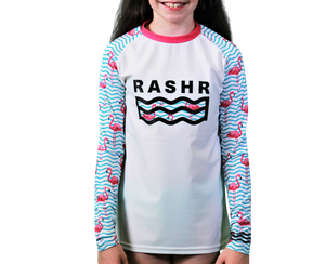 7abd26a1b Le Flamingo Classique Girls Long Sleeve Rash Vest – Rashr