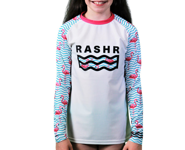 Le Flamingo Classique Girls Long Sleeve Rash Vest