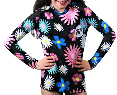 Fade Girls Long Sleeve Rash Vest