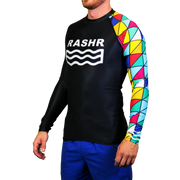 One Armed Bandit Mens Long Sleeve Rash Vest