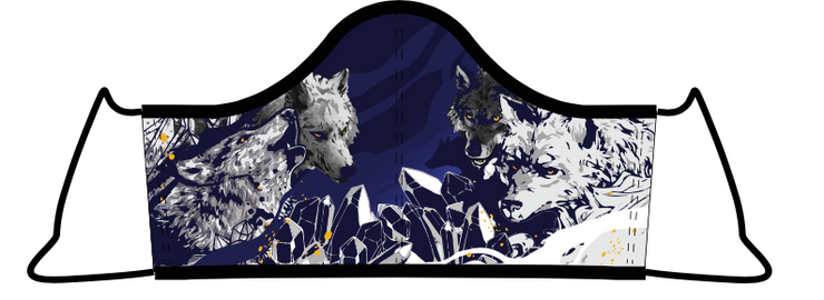 Wolf Face Mask with 5 Filters (Due to Cov-19 we can not accept any returns)