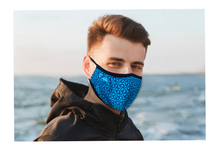 BLUE TRIAD FACE MASK WITH 1 FILTER  (Due to Cov-19 we can not accept returns)