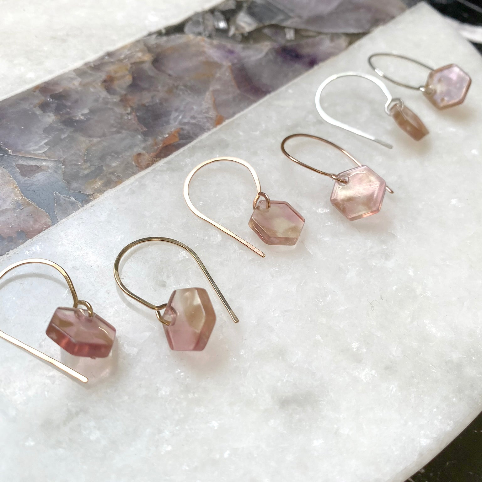 french hook hex - rose quartz