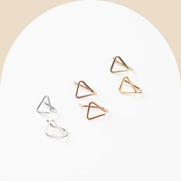 triangle pin earring