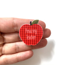 Load image into Gallery viewer, Amazing teacher lanyard pin - A is for apple