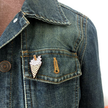 Load image into Gallery viewer, Ice cream cone wooden pin - Great gift for girls