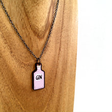 Load image into Gallery viewer, Pink gin bottle necklace - Gin lover gift