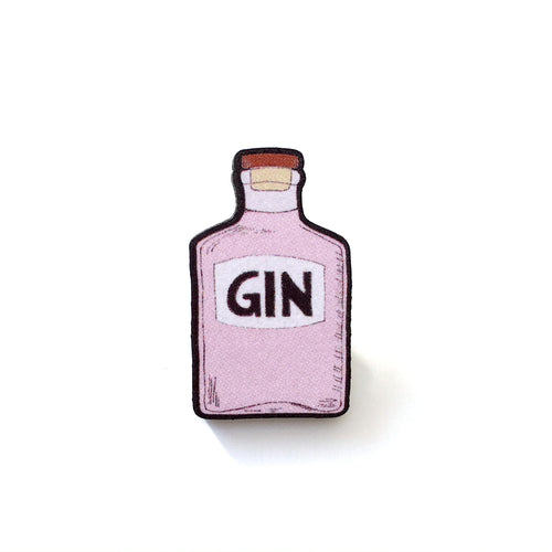 Pink gin bottle pin - Quirky gin lover gift
